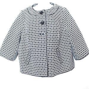 Lane Bryant Jackets & Coats - Lane Bryant Black & White Geometric Waist Coat